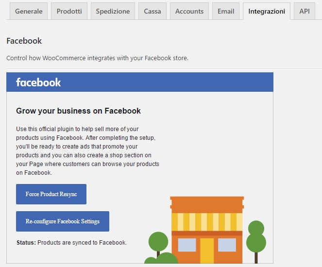 prodotti su facebook plugin woocommerce